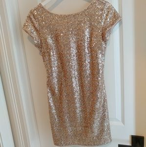 Gold Sequin Dress - White House Black Market